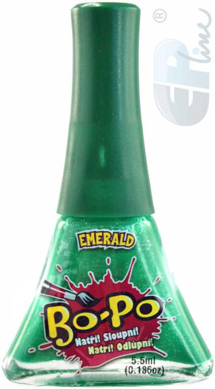 EP line BO-PO Lak na nehty dětský zelený slupovací Emerald 5,5ml na kartě