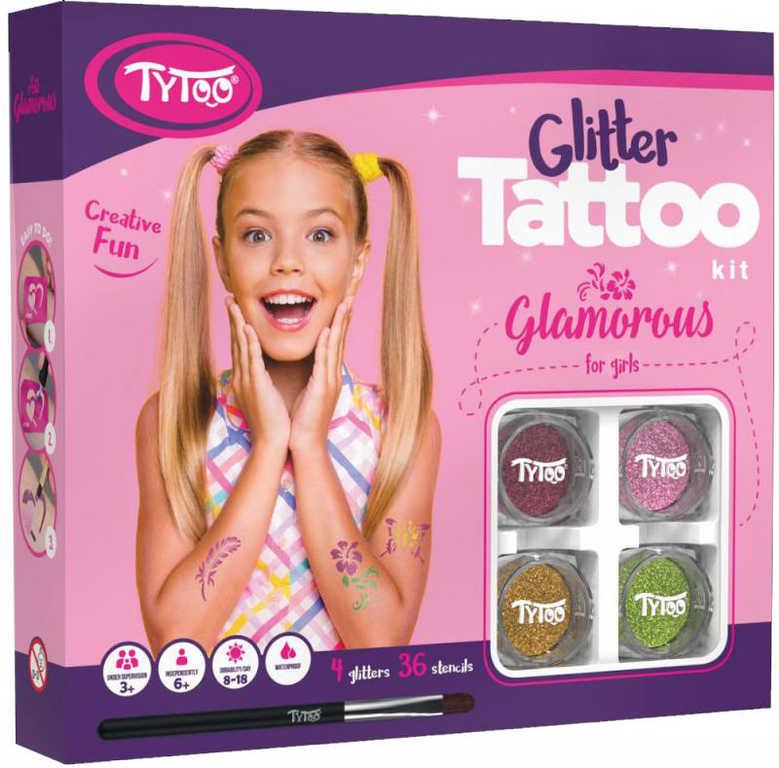 TyToo Dětské tetování Glamorous 36 tetovaček pro holky se třpytkami