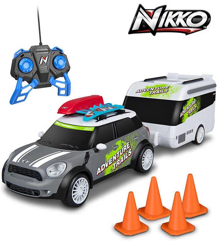 NIKKO RC Auto Mini Cooper Countryman s karavanem 2,4GHz na vysílačku 1:20 na baterie