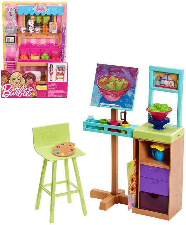 MATTEL BRB Barbie dokonalé pracoviště herní set 3 druhy plast