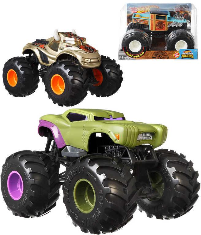 MATTEL HOT WHEELS Auto Monster Trucks 1:24 velká kola 4 druhy kov