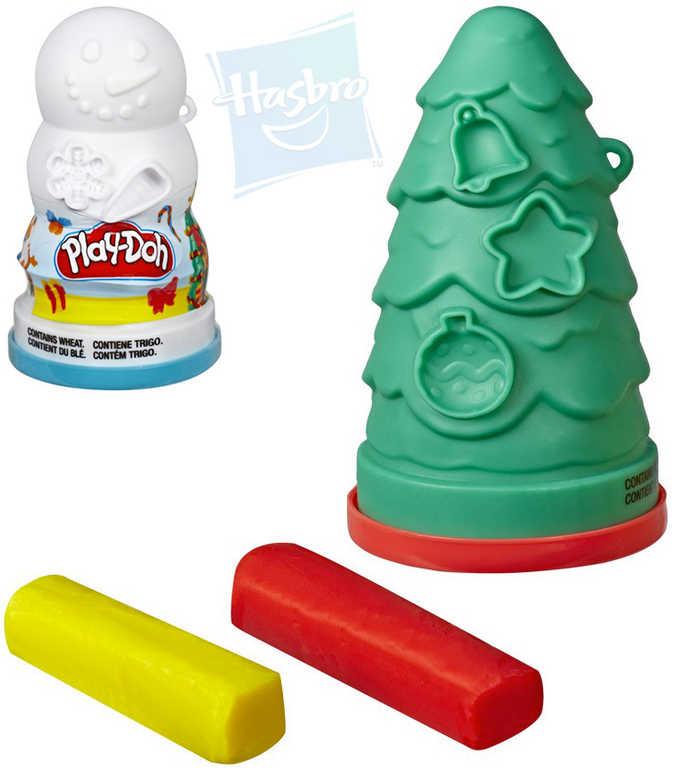 HASBRO PLAY-DOH Kreativní vánoční set s modelínou vytváření ozdob 2 druhy