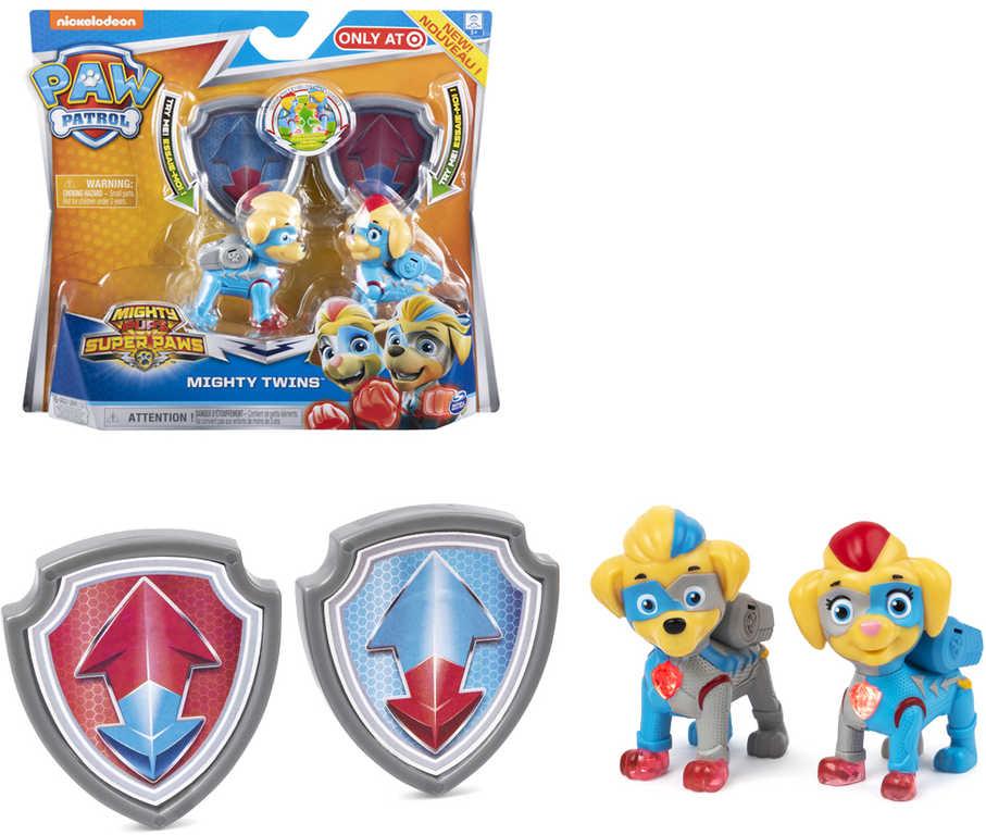 SPIN MASTER Paw Patrol (Tlapková Patrola) dvojčata svítící na baterie Světlo