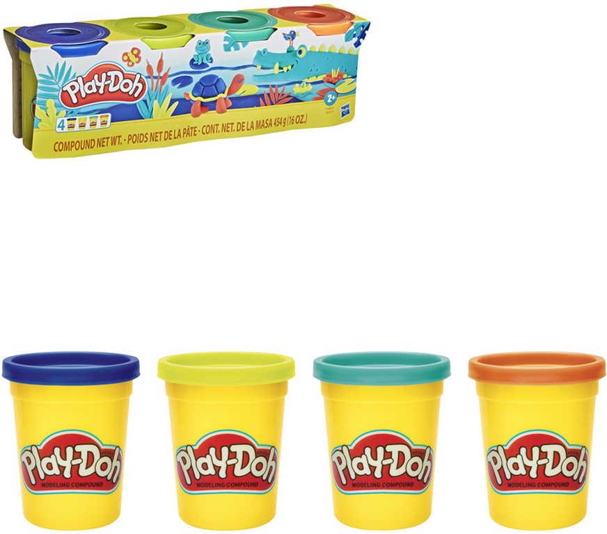 HASBRO PLAY-DOH Kreativní set modelína 4 kelímky zvířátka mix barev