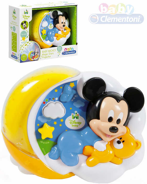 CLEMENTONI Baby projektor Mickeyho kouzelné hvězdy na baterie Světlo Zvuk
