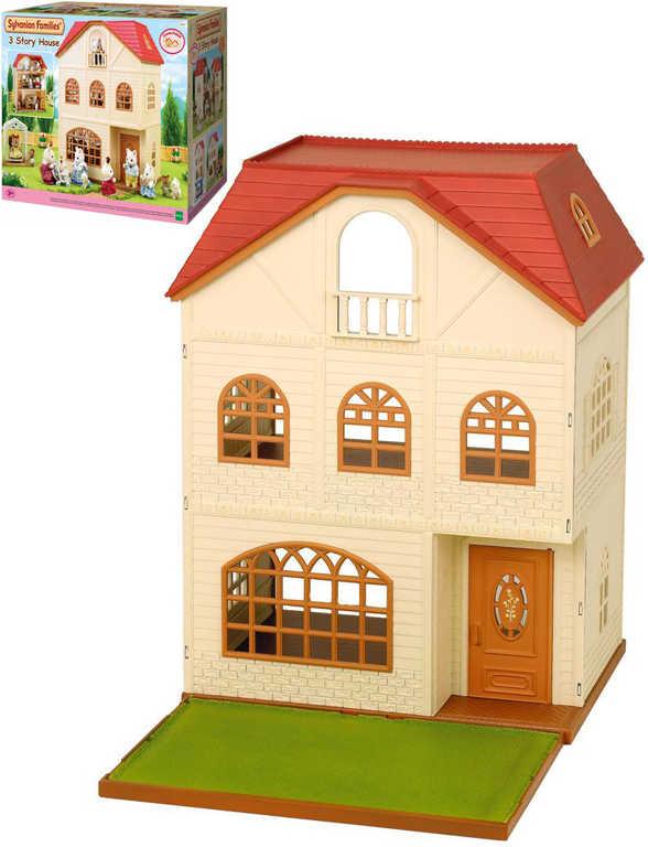 Dům třípatrový doplněk k herním sadám Sylvanian Families v krabici