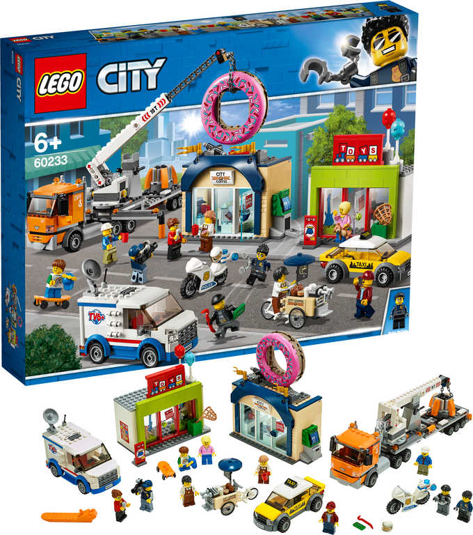 LEGO CITY Otevření obchodu s koblihami 60233 STAVEBNICE