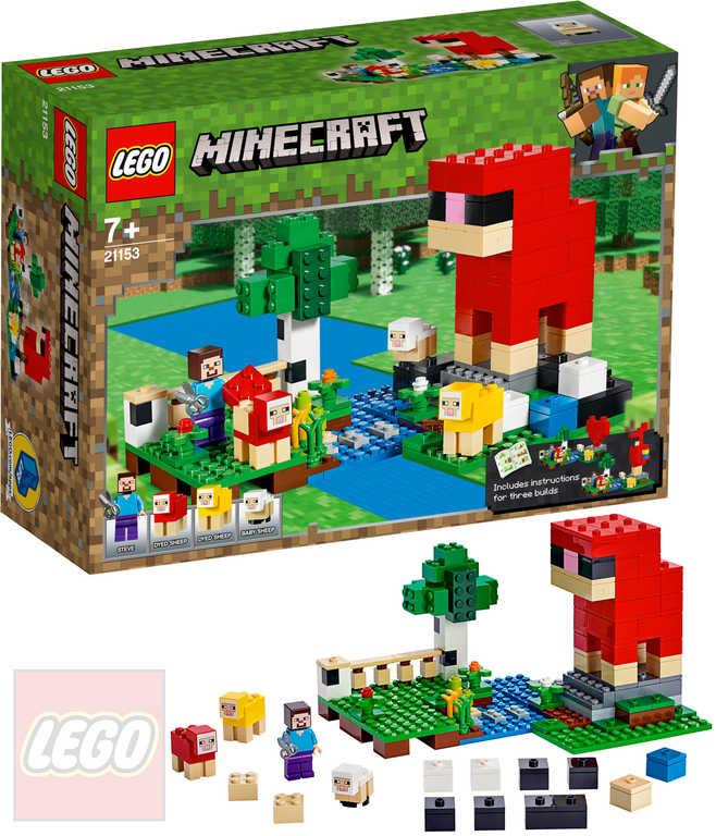 LEGO MINECRAFT Ovčí farma 21153 STAVEBNICE