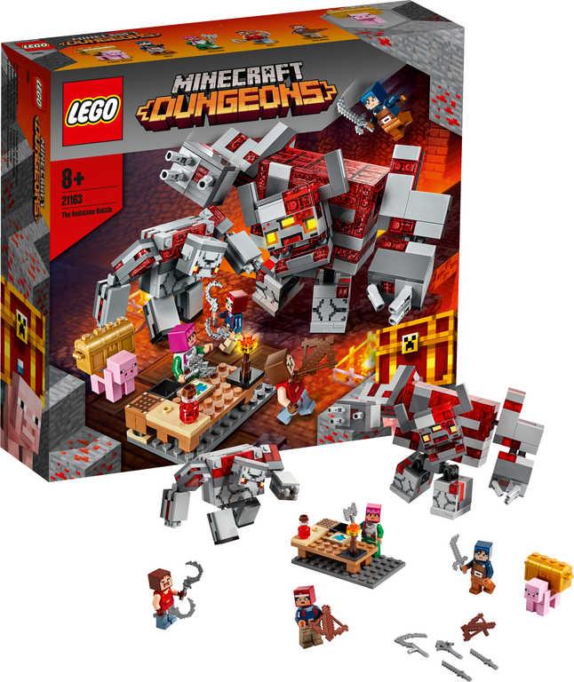 LEGO MINECRAFT Bitva o rudit 21163 STAVEBNICE