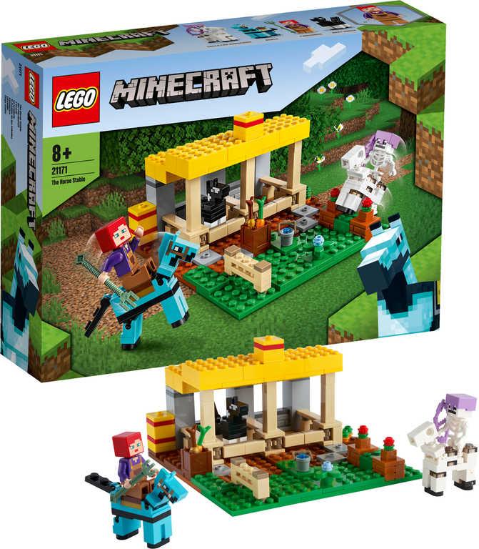 LEGO MINECRAFT Koňská stáj 21171 STAVEBNICE