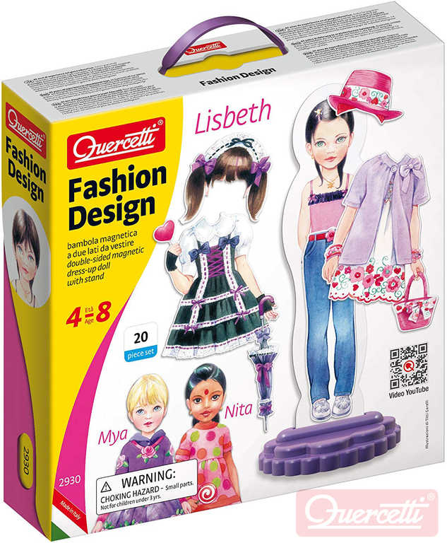 QUERCETTI Fashion Design Lisbeth magnetické šablony obleč panenku