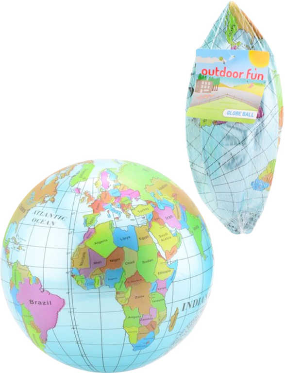 Míč nafukovací potištěný zeměkoule 23cm balon mapa světa