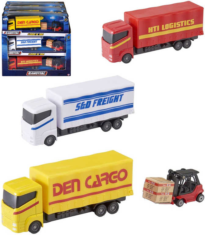 Teamsterz kamion set nákladní auto kovové + vysokozdvižný vozík různé druhy