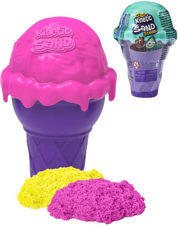 Kinetic Sand Zmrzlinový kornout tekutý písek voňavý různé barvy