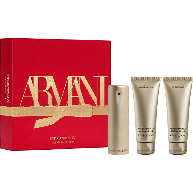 Armani Emporio She - EDP + sprchový gel + tělové mléko 50 ml + 75 ml + 75 ml