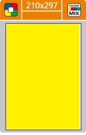Print etikety A4 pro laserový a inkoustový tisk - 210 x 297 mm (1 etiketa/ arch) žlutá