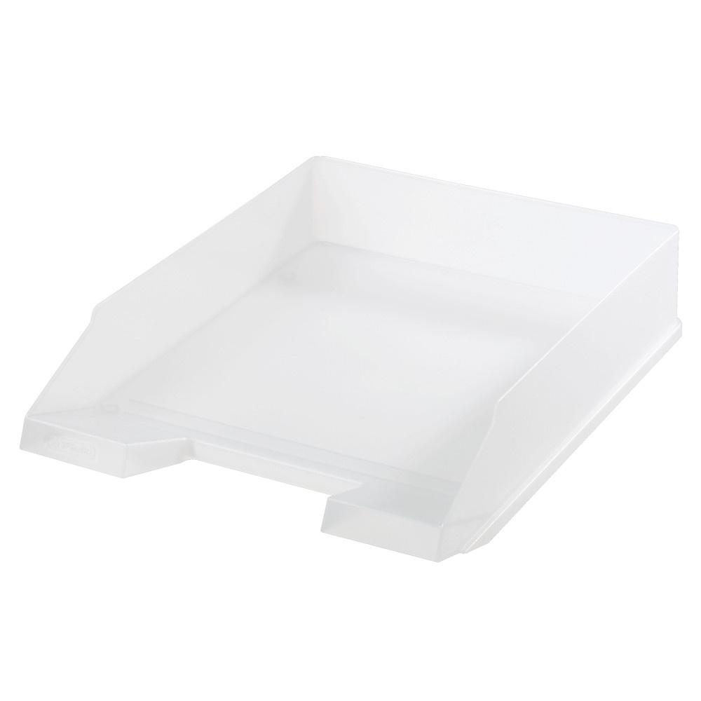 Kancelářský box na spisy Herlitz - bílá / transparentní