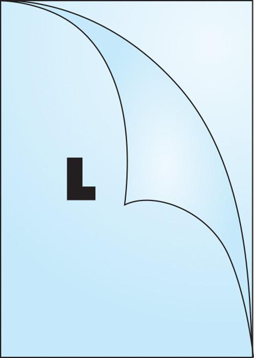 Zakládací obal Concorde - tvar L / A4 matný / 90 my / 100 ks