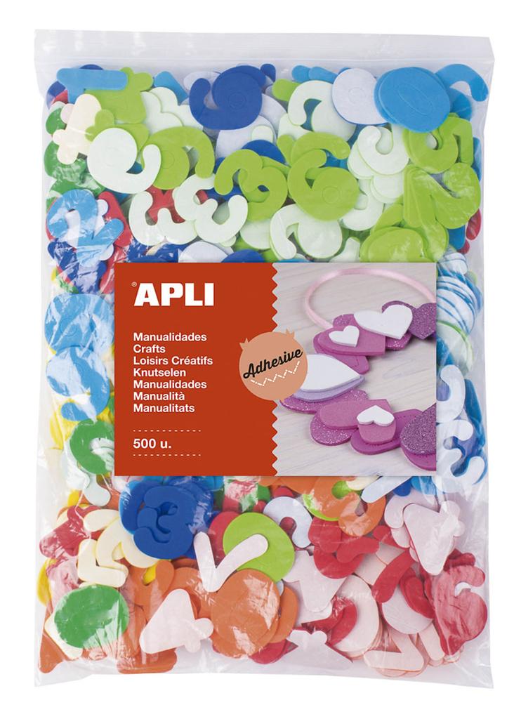 Samolepicí číslice APLI Jumbo / mix barev / 500 ks