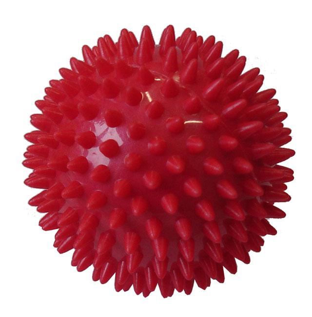 ACRA Míček masážní průměr 7,5 cm červený