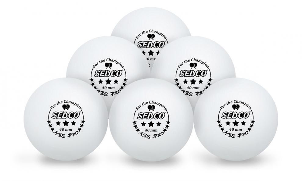 Míčky na stolní tenis SEDCO for CHAMPION 3*** CELL FREE 6ks