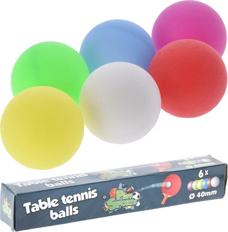 Míčky na stolní tenis SEDCO barevné 6ks