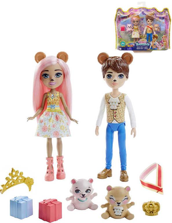 MATTEL Enchantimals set panenky Royal Braylee Bear a Brannon Bear s doplňky