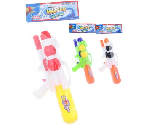 E-shop Pistole vodní 35cm se zásobníkem na vodu 3 barvy plast v sáčku