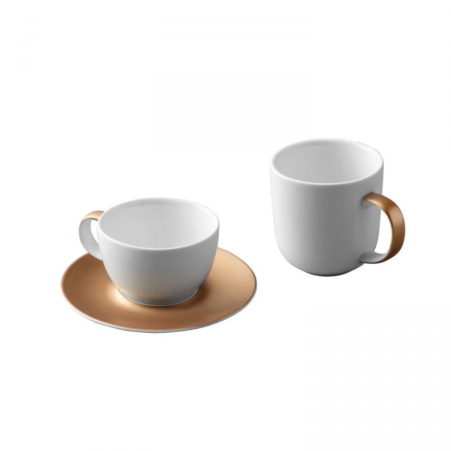 Hrnek s podšálkem porcelán GEM sada 3 ks