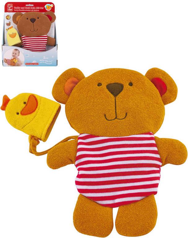 HAPE Baby žínka na umývání medvídek s kačenkou do vany na koupání