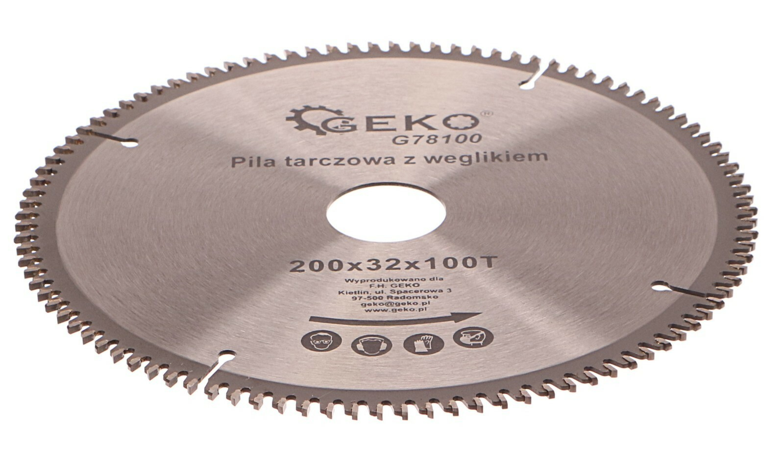 Kotouč řezný na hliník + redukce, 200x32 mm 100T GEKO