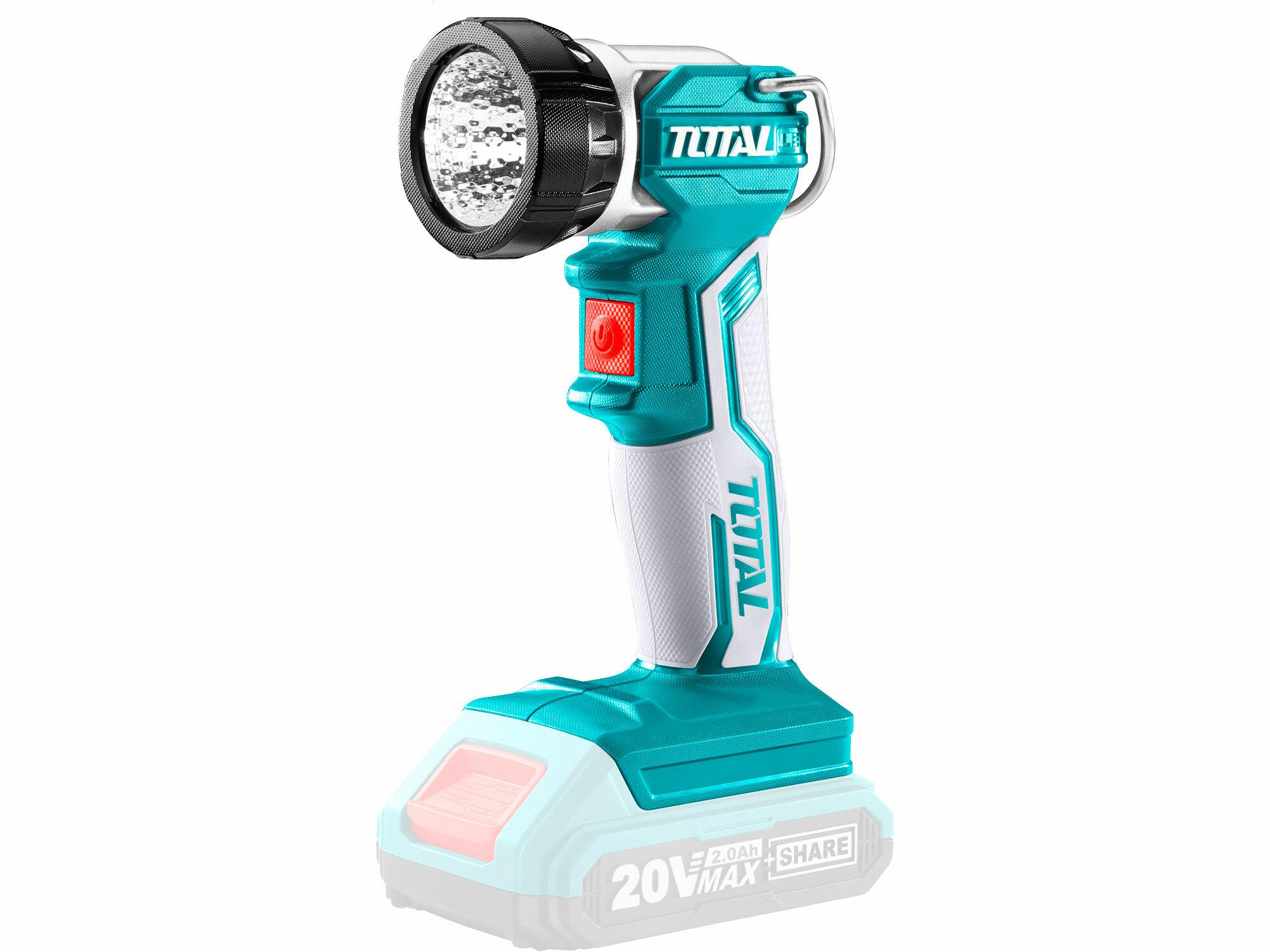 Světlo pracovní závěsné, 20V Li-ion, 2000mAh, industrial - bez baterie a nabíječky TOTAL-TOOLS