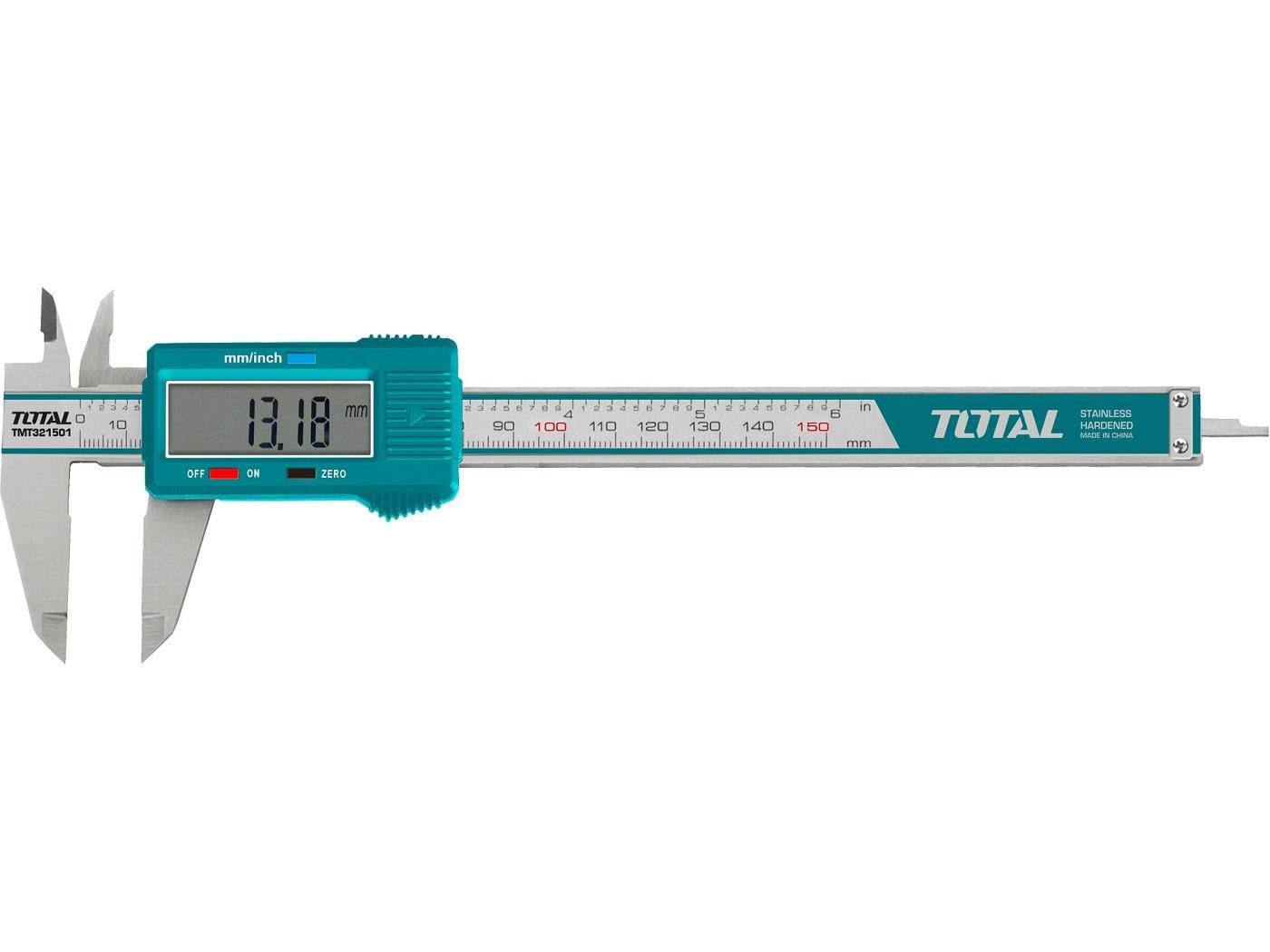 Měřítko posuvné digitální, 150mm TOTAL-TOOLS