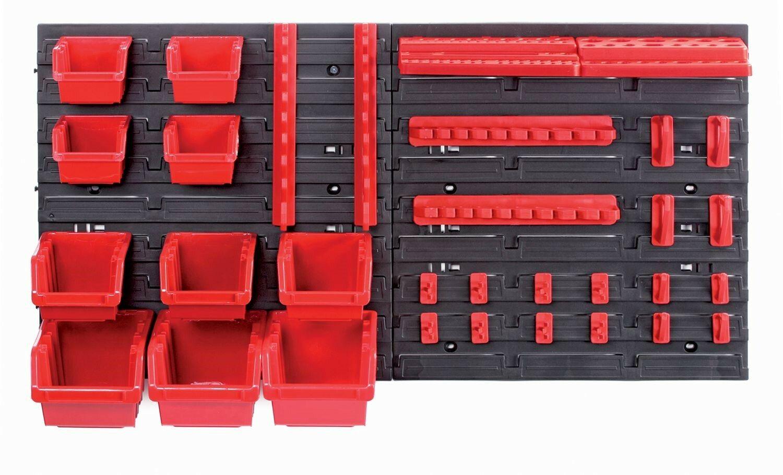 Závěsný panel s 10 boxy a 22 držáky na nářadí ORDERLINE 800x165x400 KISTENBERG