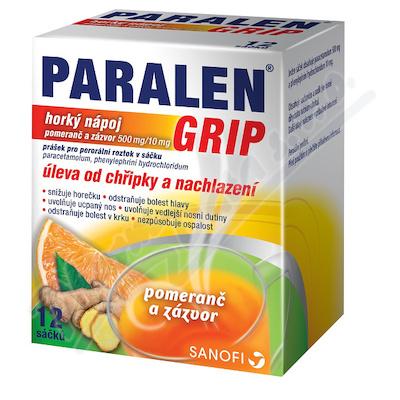 Paralen Grip horký nápoj Pomer.zázv.por.plv.sol.12