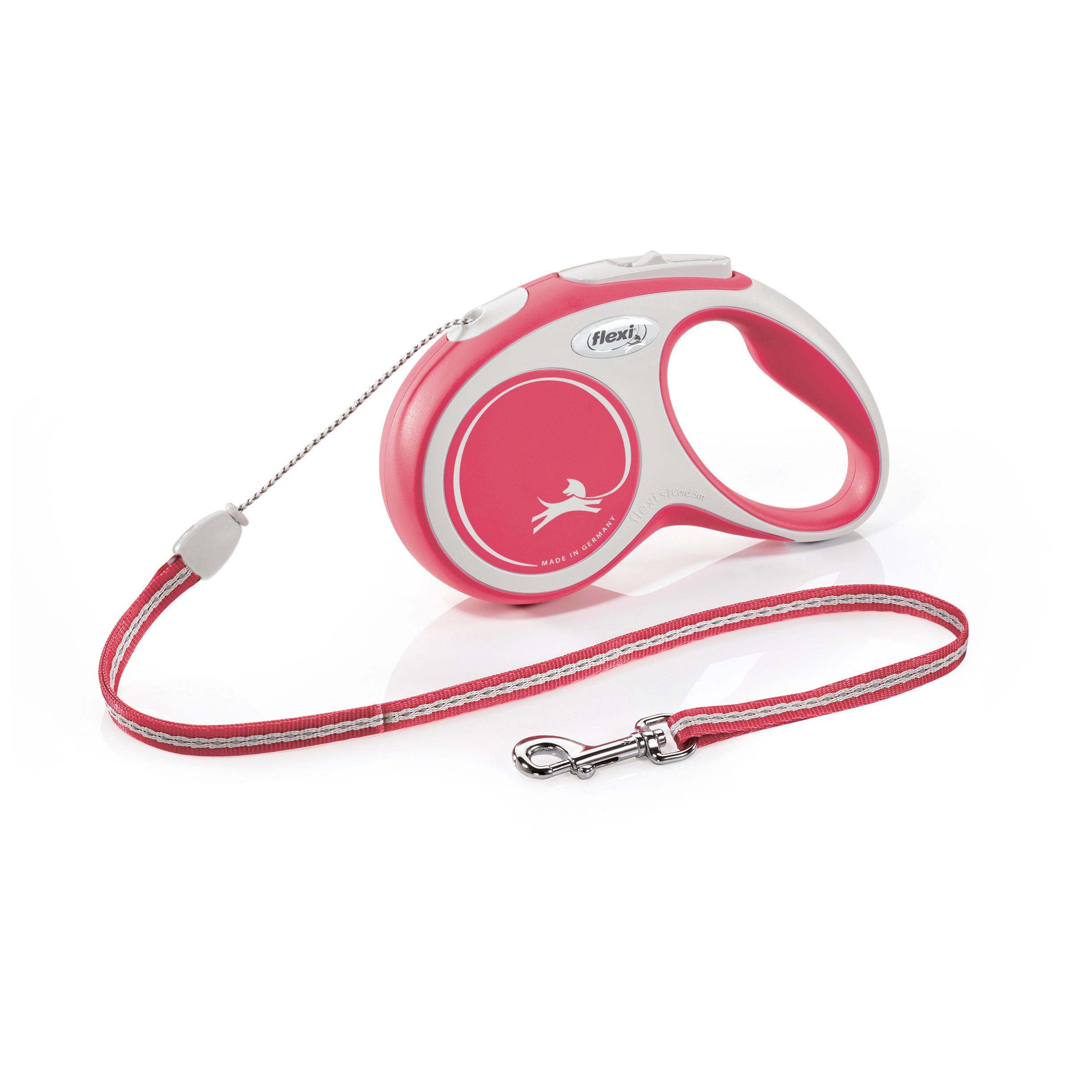 Flexi New Comfort S šňůra 5m červená