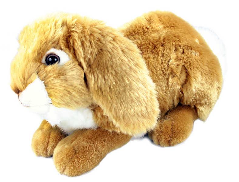 PLYŠ Zajíc ležící 30 cm hnědý *PLYŠOVÉ HRAČKY*