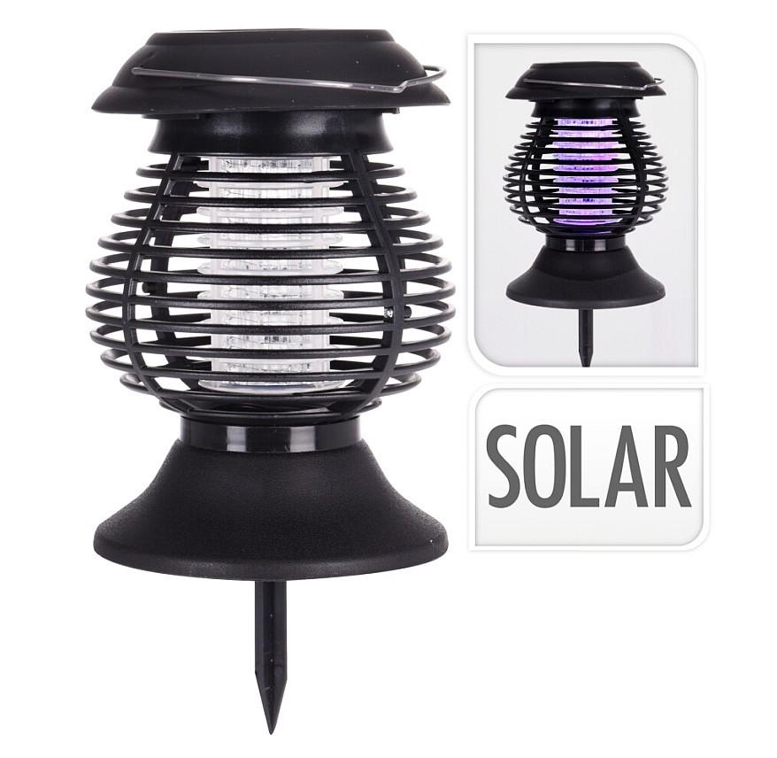 Lapač hmyzu UV solární lampa 2v1 26 cm