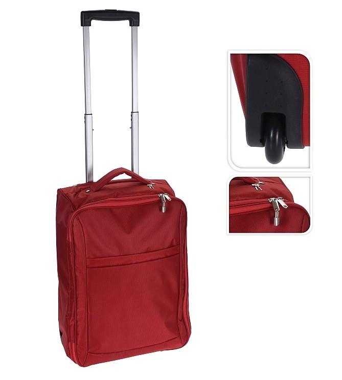 Kufr příruční textilní 50 x 34 x 20 cm červený EXCELLENT KO-DG6000020