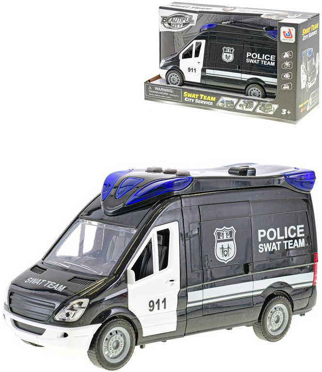 Auto policie zásahová jednotka 26cm na baterie plast Světlo Zvuk
