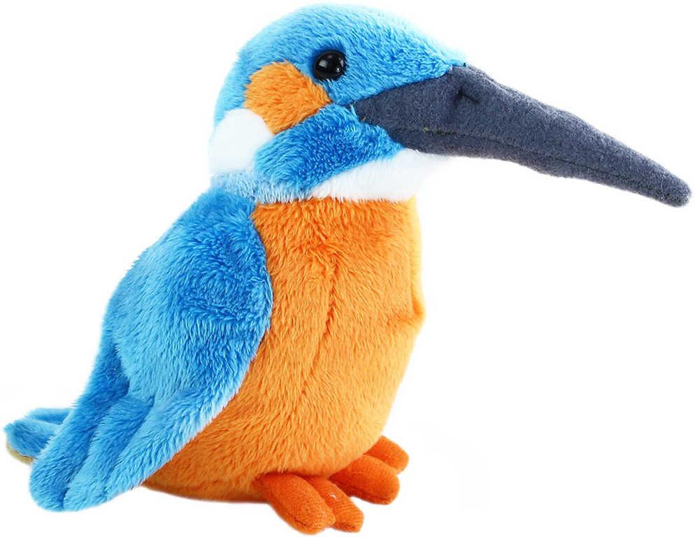 PLYŠ Ledňáček 12cm plyšový ptáček *PLYŠOVÉ HRAČKY*