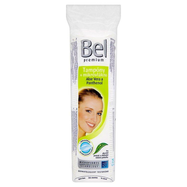 Fotografie Bel Premium odličovací tampony s mikrovláknem, aloe vera a panthenol 75 ks