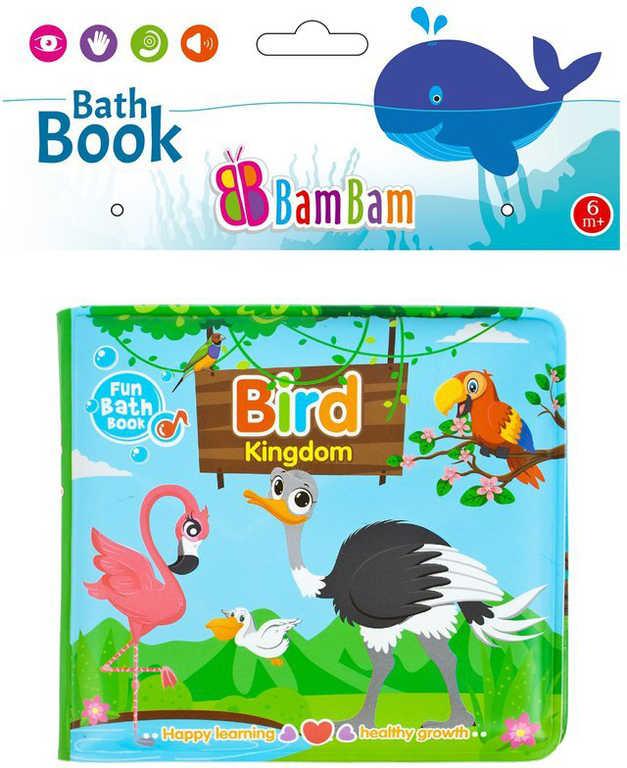 BAM BAM Baby knížka ptáčci pískací do vany na koupání pro miminko