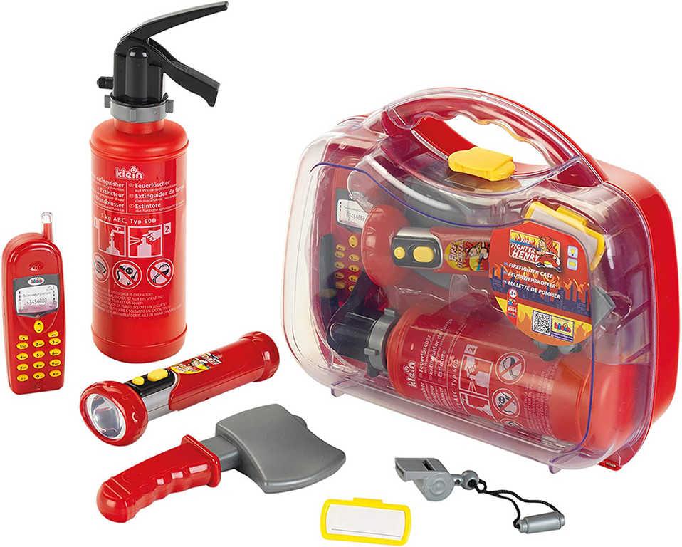 KLEIN Hasičský kufřík set s mobilem a hasicím přístrojem na baterie