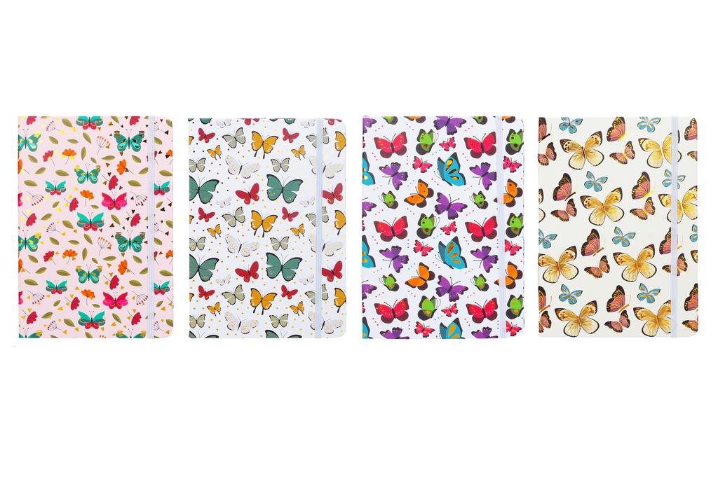 Notes s gumičkou - Motýl mix