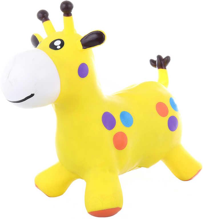 Baby hopsadlo Žirafa 52x44x26cm skákací zvířátko set s pumpičkou guma