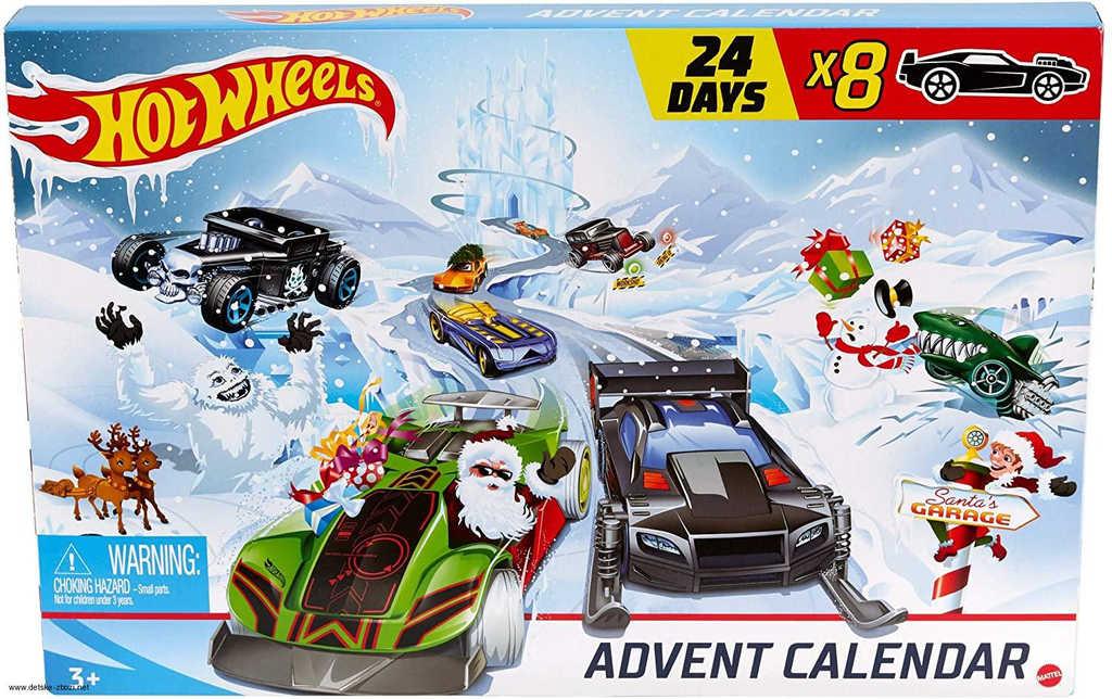 MATTEL HOT WHEELS Adventní kalendář 24 okének s překvapením