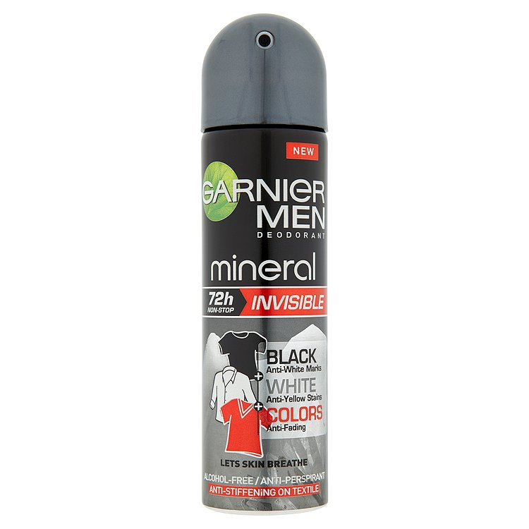 Garnier Mineral Men Invisible Black&White Colors minerální deodorant 150 ml
