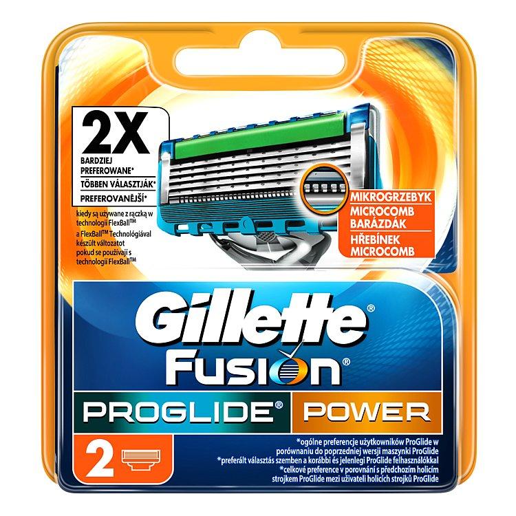 Gillette Fusion ProGlide Power Náhradní hlavice k holícímu strojku 2 ks