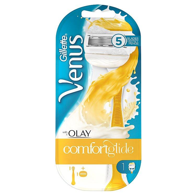 Gillette Venus Olay holicí strojek se zvlhčujícím páskem a držákem do sprchy 1 ks